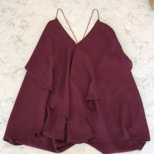 Lightweight blouse with chain straps